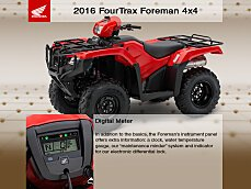 2016 Honda FourTrax Foreman for sale 200592129