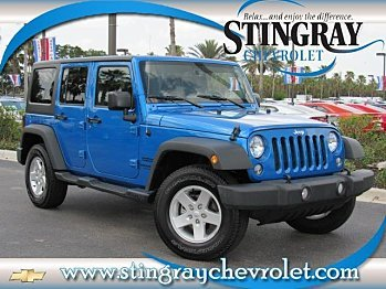 2016 Jeep Wrangler 4WD Unlimited Sport for sale 100872690