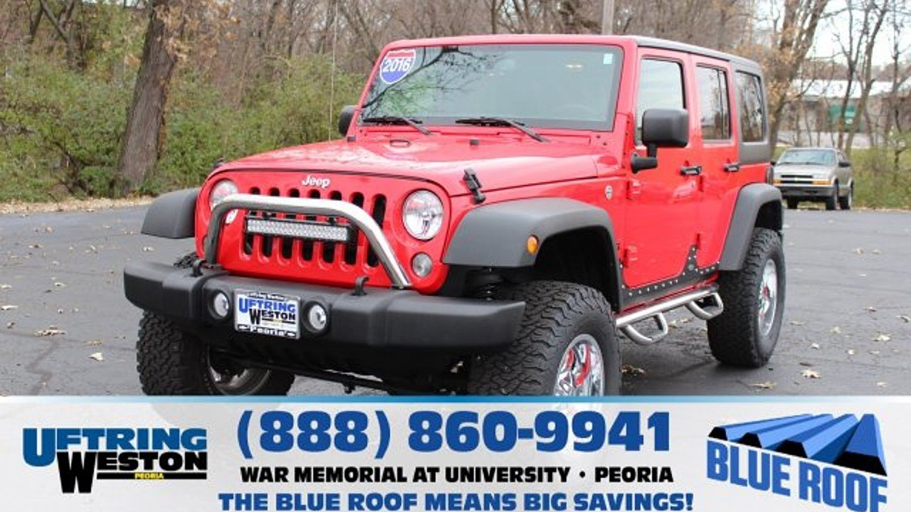 2016 Jeep Wrangler 4WD Unlimited Sport for sale 100922467