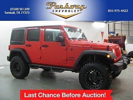 2016 Jeep Wrangler 4WD Unlimited Sport for sale 100928579