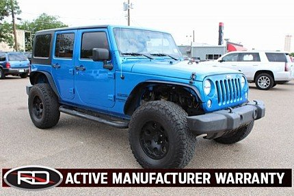 2016 Jeep Wrangler 4WD Unlimited Sport for sale 100987646