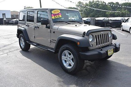 2016 Jeep Wrangler 4WD Unlimited Sport for sale 101010226
