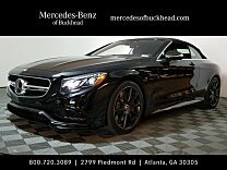 2017 Mercedes-Benz S63 AMG 4MATIC Cabriolet for sale 100813249