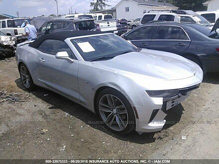 2017 chevrolet Camaro LT Convertible for sale 101015265