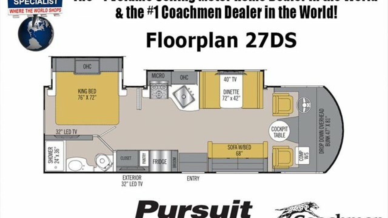 2018 Coachmen Pursuit for sale 300149104