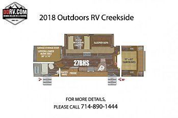 2018 Outdoors RV Creekside for sale 300148782