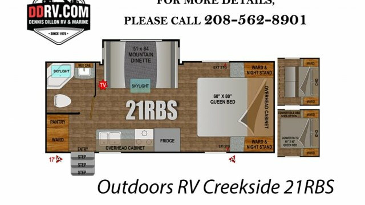 2018 Outdoors RV Creekside for sale 300148831