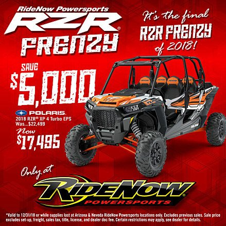 2018 Polaris RZR XP 4 900 for sale 200648990