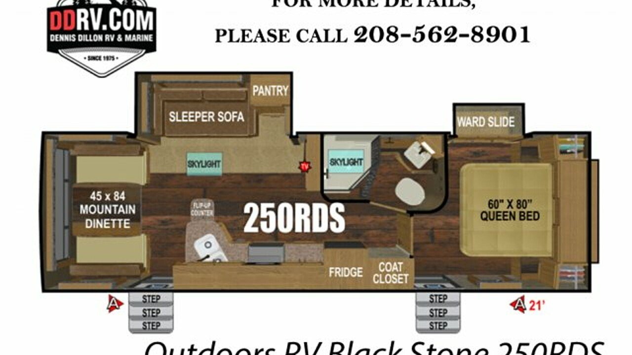 2019 Outdoors RV Black Stone for sale 300159109