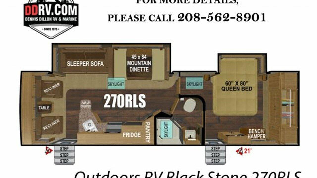 2019 Outdoors RV Black Stone for sale 300159115