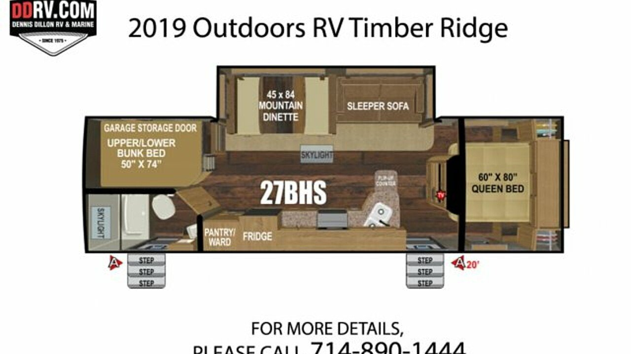 2019 Outdoors RV Timber Ridge for sale 300165664